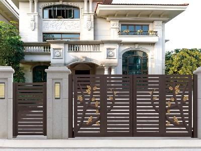 看脸时代追求极简风格铝艺别墅门有错吗?