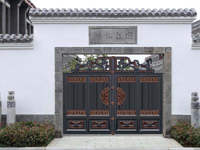解析铝艺庭院大门的中式和新中式的特点