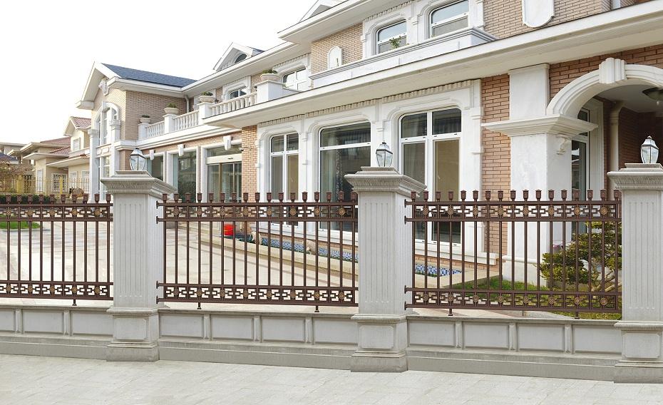 豪华中式庭院铝艺围栏