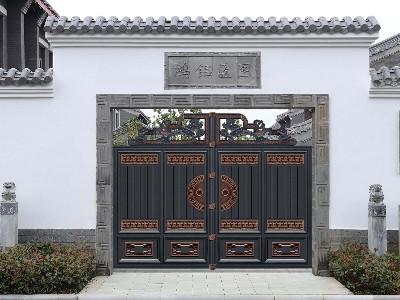 新中式的铝艺庭院大门,网友说我爱了