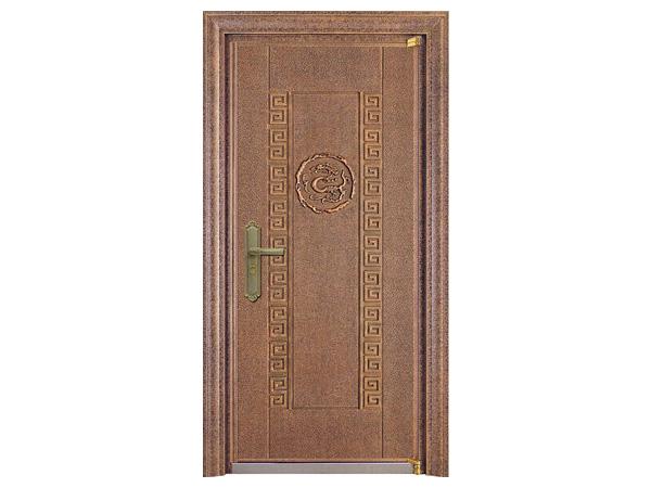 佛山铸铝防爆门,新中式豪华精雕铸铝门