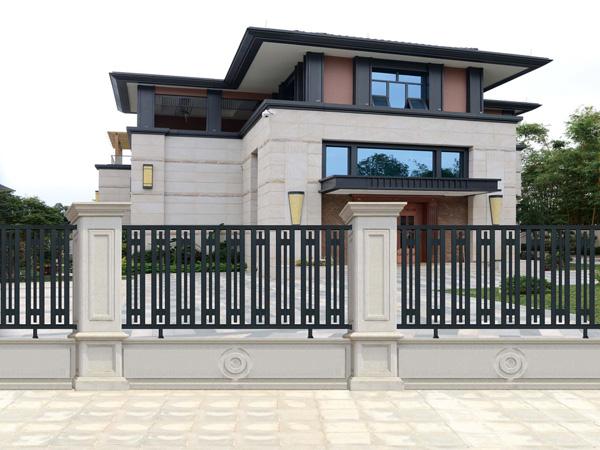 别墅围墙护栏,铝艺防护隔离栅栏