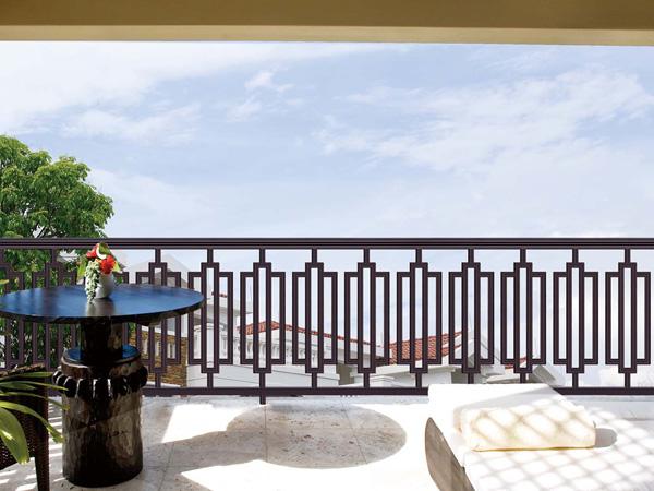 别墅阳台护栏,定制别墅庭院铝合金围栏