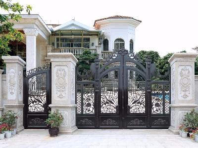 新中式铝艺别墅门,中国风和现代元素的完美结合!