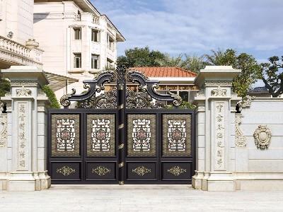 铝艺庭院大门如何与墙体完美连接?