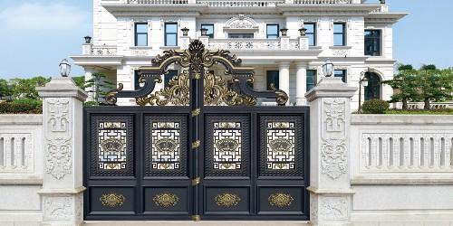 铝艺庭院大门的制作材料及艺术价值