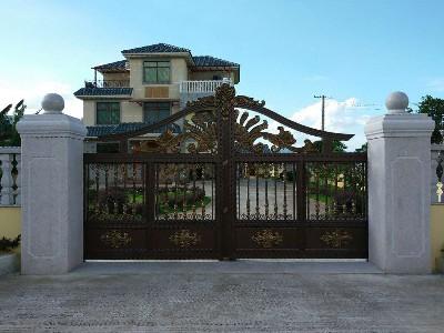 梅州黄总 | 平开铝艺庭院大门
