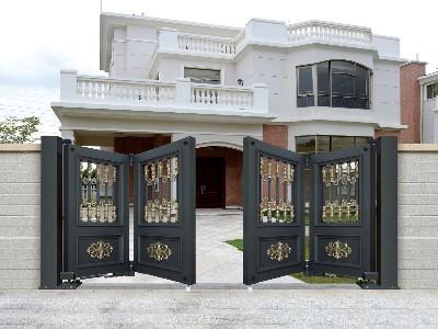 铝艺庭院大门悬浮折叠门,估计您从来没见过?
