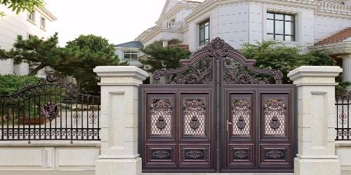 铝艺庭院大门按需定制品质保证,佛山别墅大门厂家一条龙服务!