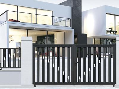 符合现代人品味的铝艺庭院大门