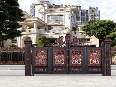有哪些含有风水文化图案的铝艺庭院大门?
