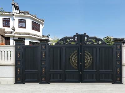 新中式别墅庭院铝艺门 哪种别墅大门才符合新中式定义?