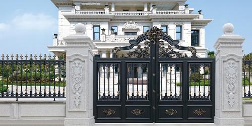 想买铝艺别墅门,哪里产的好些?