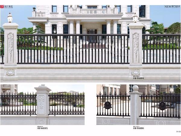 铝艺护栏小区围墙 别墅铝合金庭院围栏