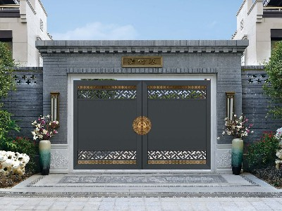 新中式铝艺庭院大门还能这样做,太惊喜了吧?