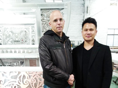 国外客户来访汉仁铝艺