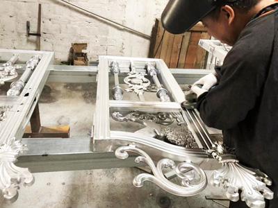 汉仁铝艺大门生产过程