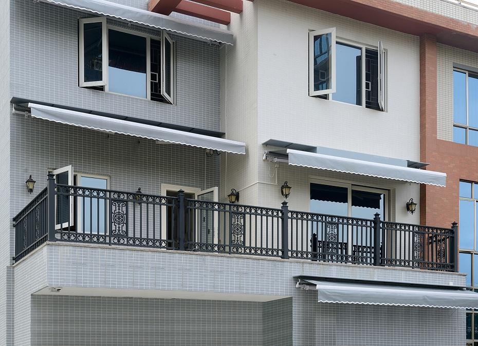 新中式别墅铝艺围栏
