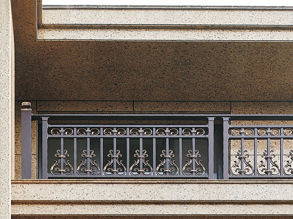 新中式别墅铝艺护栏