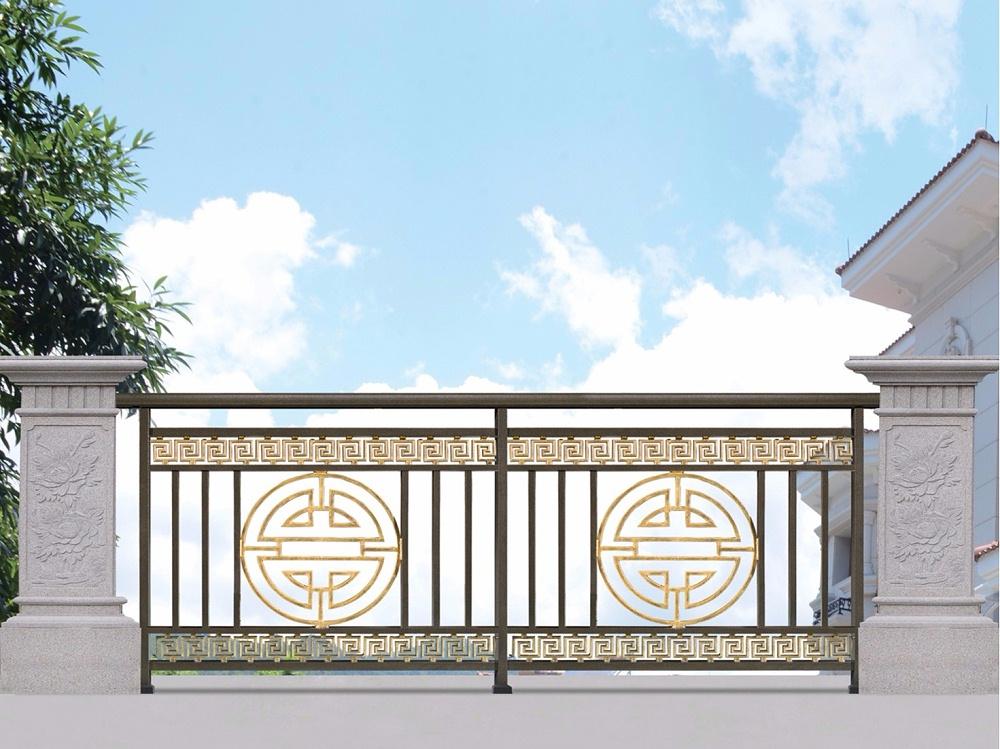 新中式庭院铝艺护栏