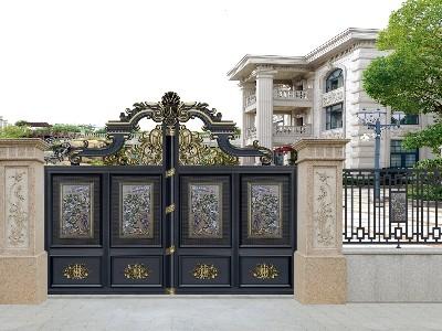 普通的铝艺庭院大门这样设计也变高大上?