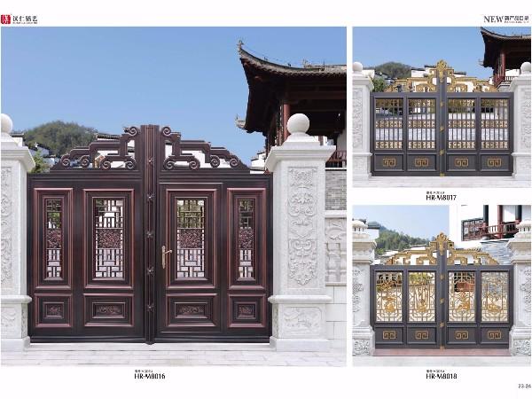 定制铝艺大门 庭院别墅铝合金大门 厂家定制欧式铝艺大门