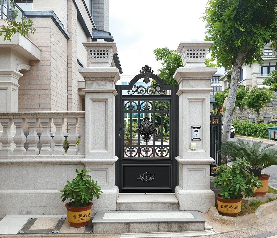 小区铝艺庭院门