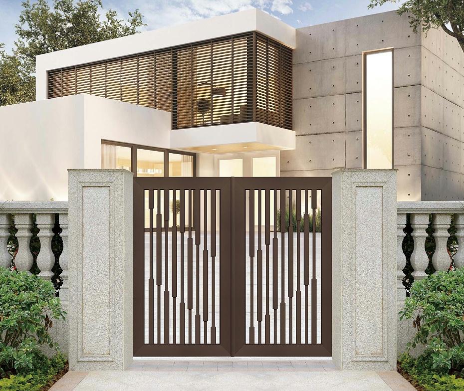 别墅中式铝艺庭院门