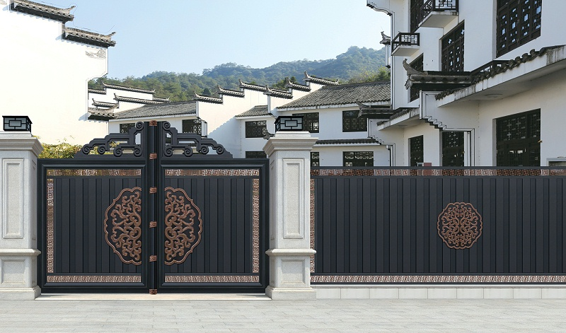 中式大门别墅围栏
