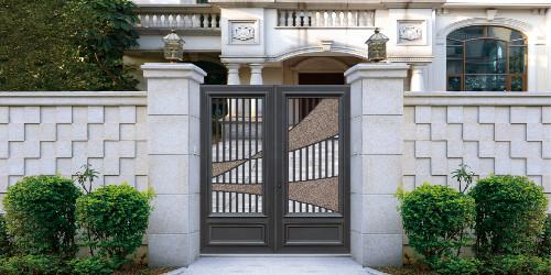 铝艺庭院大门定制,别墅豪宅入户大门众多选择!