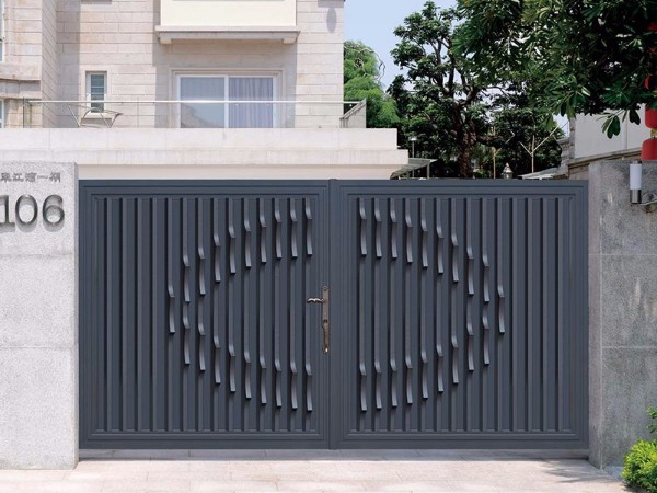 铝合金别墅门 现代简约风别墅门 铝艺庭院大门