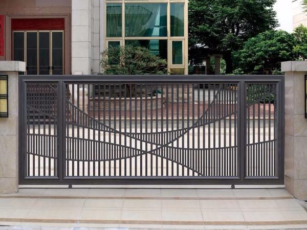 全自动铝艺别墅大门 遥控别墅平移门 铝艺庭院大门