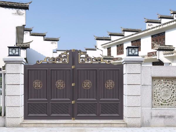中式简约庭院别墅门