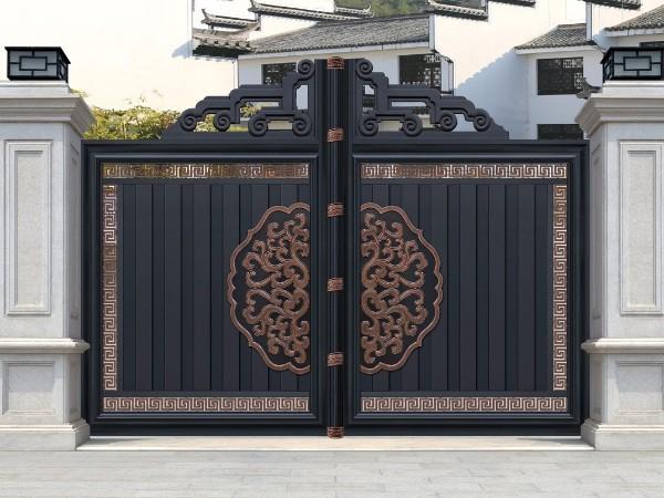 中式传统别墅铝艺大门
