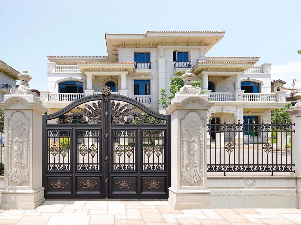 中式铝艺别墅庭院门