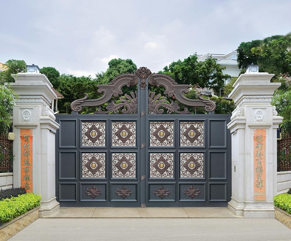 雕刻庭院铝艺大门